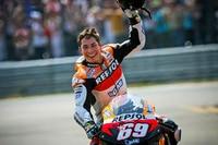 Nicky Hayden nach dem Titelgewinn 2006 in Valencia