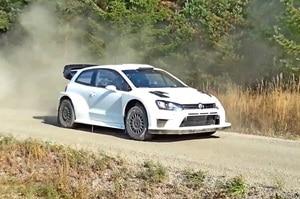 Der VW Polo R WRC 2017 beim Test