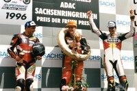 Sachsenring 1996: Roger Kellenberger, Christer Lindholm und Andy Meklau