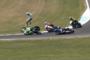 Jules Cluzel wurde heftig von seiner Honda geschleudert