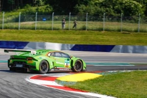 Markante Lackierung: Der Lamborghini Huracan GT3 von Grasser Racing