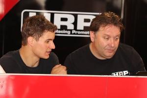 Jan Halbich (li.) mit Teamchef Jens Holzhauer