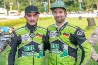 Raphael San Millan (r.) und Beifahrer Benedikt Zapf (l.) steigen in die I-Lizenz auf
