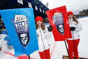 Nicht nur die russischen Eisfahrer machen optisch etwas her