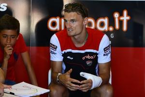 Chaz Davies sass am Sonntag in Misano wieder in der Ducati-Box