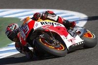 Marc Márquez beim GP von Spanien in Jerez: nur Platz 3 am Freitag
