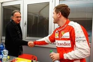 Sergio Marchionne mit Sebastian Vettel