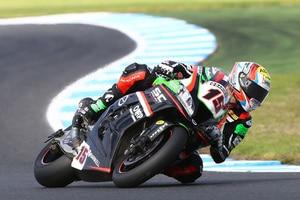 Alex De Angelis hat mit der Kawasaki kaum getestet