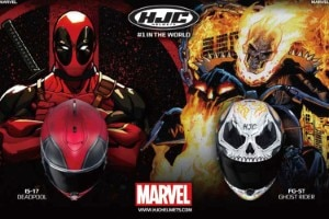 Ab Sommer im Handel: HJC IS-17 Deadpool und HJC FG-ST Ghost Rider