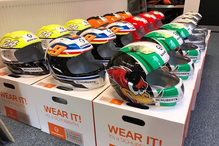 Helm Design schuberth individuelles helm design für die rookies produkte speedweek
