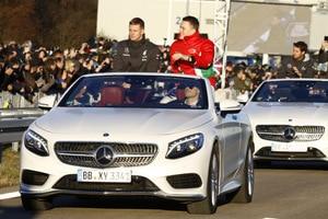 Mick Schumacher weilte als Gast von Mercedes in Sindelfingen