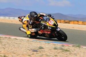 Glenn Scott mit der Benjan-Kawasaki in Almeria