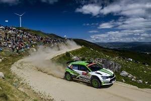 Pontus Tidemann führt mit vier Siegen in der WRC2
