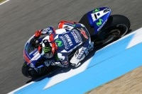 Jorge Lorenzo am ersten Trainingstag in Jerez