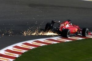 Sebastian Vettel vor einem Jahr in Belgien