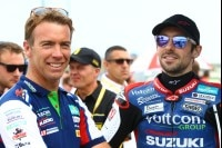 Suzuki-Superbike-Teamchef Paul Denning und Eugene Laverty