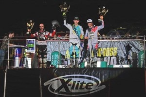 Final Podium SX1: Aubin, Bowers, Thury (v.l.)