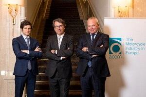 Das neue ACEM-Führungstrio: Michele Colaninno, Stefan Pierer und Stefan Schaller