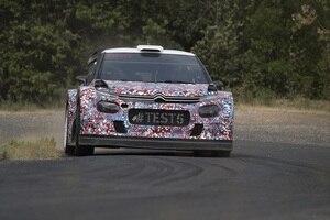 Der Citroën C3 WRC beim ersten Asphalt-Test