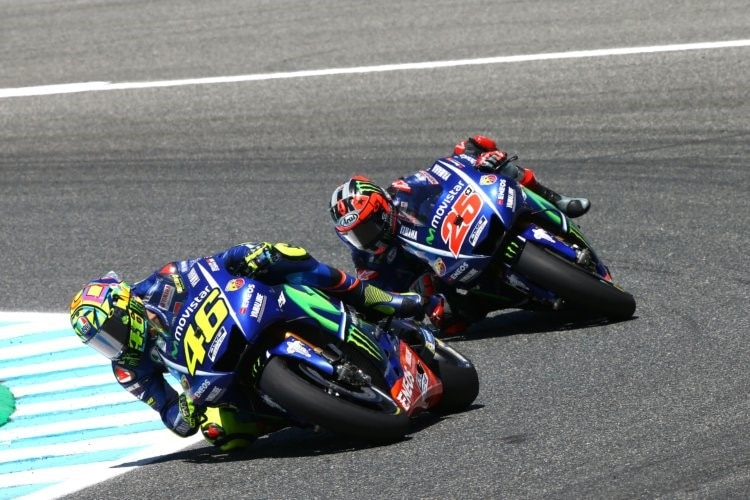 jerez test 12 uhr vinales vorn rossi nur 19 motogp. Black Bedroom Furniture Sets. Home Design Ideas