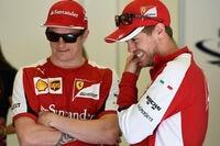 Kimi Räikkönen und Sebastian Vettel