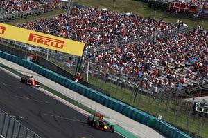 Daniel Ricciardo liess sich von Sebastian Vettel nicht unter Druck setzen