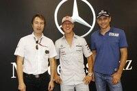 Die früheren Mercedes-Junioren Heinz-Harald Frentzen, Michael Schumacher und Karl Wendlinger