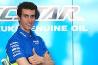 Alex Rins in der Suzuki-Box