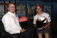 Tauschten ihre Helme aus: Wayne Rainey und Marc Márquez