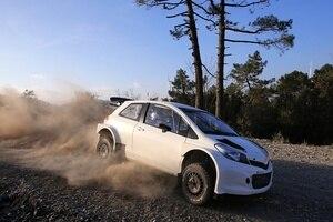 Eine Version des Toyota Yaris WRC im Test