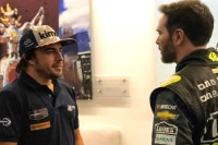 Fernando Alonso mit Jimmie Johnson