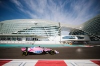 Lance Stroll im Force-India-Renner bei den Saisonabschluss-Tests in Abu Dhabi