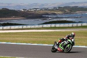 Weltmeister Johnny Rea (Kawasaki) beim Test auf Phillip Island