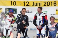 Garry McCoy, Jeremy McWilliams, Freddie Spencer und Didier de Radigués (v.l.)
