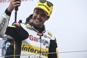 Tom Lüthi beim Sieg in Silverstone 2016