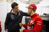 Toto Wolff und Sebastian Vettel in China