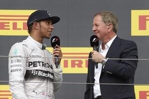 Lewis Hamilton mit Martin Brundle