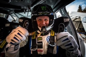 Petter Solberg am Steuer des VW Polo