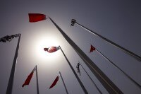 Eine Herausforderung: Der Wind in Bahrain