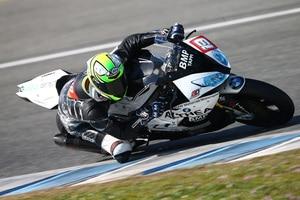 Julian Puffe beim Testen in Jerez