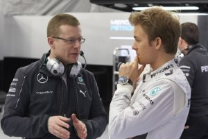 Andy Cowell mit Nico Rosberg