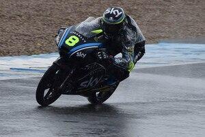 Nicolò Bulega fuhr gestern Bestzeit und ging auch auf nasser Fahrbahn raus