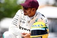 Lewis Hamilton in Kanada mit einem Senna-Helm