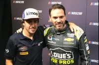 Fernando Alonso und Jimmie Johnson