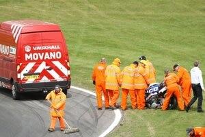 Die Tyco BMW von Davide Giugliano wurde ebenfalls arg in Mitleidenschaft gezogen