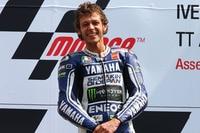 Glücklicher Valentino Rossi: Sieg in Assen 2013