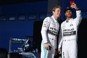 Lewis Hamilton und Nico Rosberg