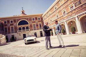Nico Rosberg und Fürst Albert unternahmen eine Ausfahrt im Mercedes-Benz SL 300 Gullwing