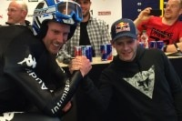 MotoGP-Fan Werner Heel mit Stefan Bradl