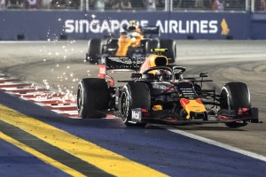 Alex Albon in Singapur